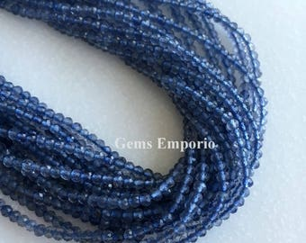 """Iolite Beads, Excellent Quality Micro Faceted Beads, Size 2.50 mm. 13"""" Strand. Price per Strand"""