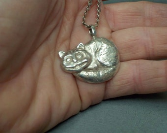 Sterling Silver Cheshire Cat Pendant