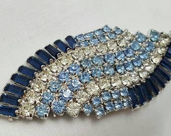 HOBE Blue Rhinestone Pin