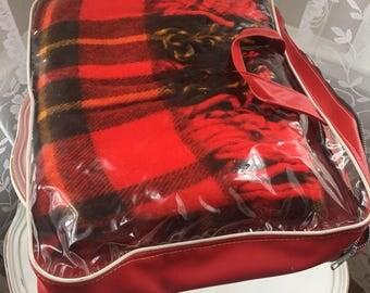 Vintage Red Plaid Stadium Blanket - Pak-A-Robe