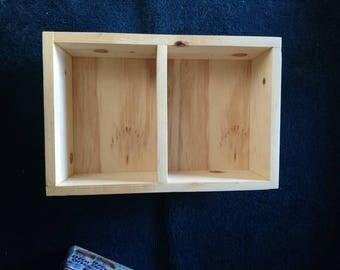 Unfinished small pine shelf