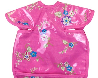 Hot Pink Bouquet Apron Bib