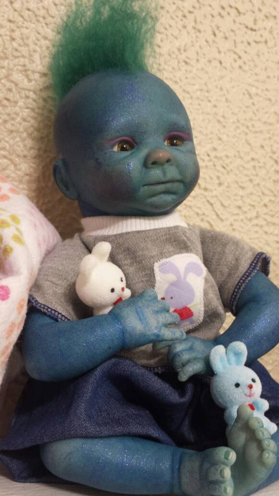 Dominic,  Reborn Troll Baby Doll/ fantasy/alternative reborn doll for kids and collectors/ Christmas SALE