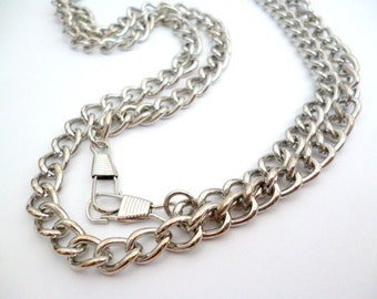 Silver Tone Chain With two Clasps_STC04465754763_Chains_of 120 cm_4/16 FT_1 pcs_Fashion Jewelry