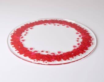 Heart Garland Design Acrylic Cake Plate
