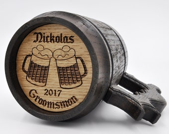 Personalized Best Man Gift, Wooden Beer Mugs, Wedding gift ideas, Female best man, Best man gift to groom, Country wedding gift ideas