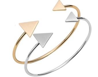 Geometric Arrow Bangle