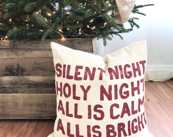 Silent Night Pillow Cover