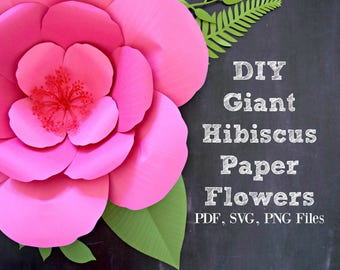 giant paper flower template printable pdf templates video. Black Bedroom Furniture Sets. Home Design Ideas