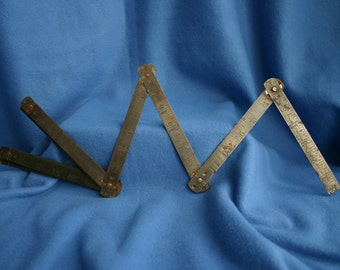 Vintage Lifkin Metal Folding Ruler #1176