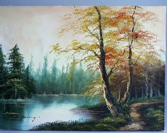 Scenic Oil Painting Etsy