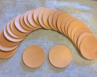 Leather coaster 25 pack 7-8 oz