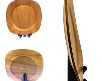 Vintage Dansk Teak Wood Tray -  Mid Century Modern Charger / Wooden Tray -  Dansk Teak / Bentwood Platter -  Danish Modern