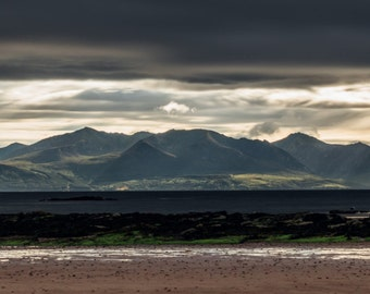 Limited Edition Panoramic Photograph of Isle of Arran |Made in Scotland | Limited Edition Wide Panoramic Aluminium Panel