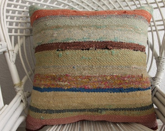tissage pillow boho bohemian fabric red striped pillow large cushion cover turkish cushion covers faded kilim pillow knot cushion 794