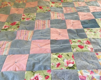 Pretty in Pink Large Throw/Small Twin Quilt
