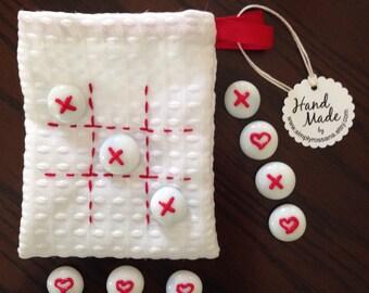 Handmade Valentines Tic-Tac-Toe