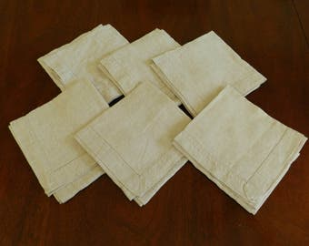 Set of Six Linen Napkins