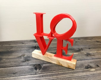 LOVE Sculpture by Robert Indiana - 3D Printed