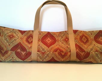 gift yoga bag yoga tote yoga mat bag mat bag long tote long yoga bag moroccan pattern bag