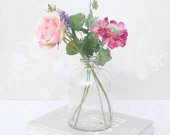 Real Touch Bouquet in Vase - Real Touch Rose - Faux Bouquet - Silk Bouquet - Everlasting Bouquet - Flower tablepiece - Flower centre piece
