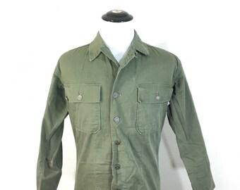 50's vintage herringbone twill field jacket military khaki