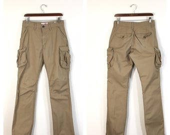 filson 100% cotton hunting cargo pants made in usa mens size w30 actual w31