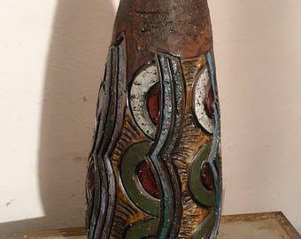 Swedish Tilgmans tone ceramic flower vase