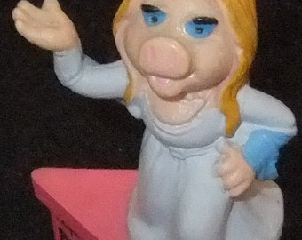 Miss Piggy Birthday Gram vintage 1980 by Schleich