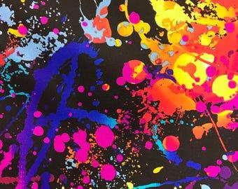 "Splatter Paint 4-way Strech Fabric 60"" by the Yard"