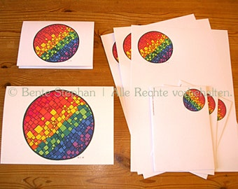 "Set: Letter paper and greeting cards ""Oneness"""