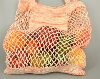 A string bag, avoska, linen bag, bag of linen yarn, crochet bag, shopping bag, linen crochet yarn, farmers market bag