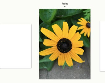 Black-eyed Susan notecard