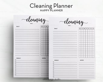 Cleaning Planner, Happy Planner, Cleaning Schedule, MAMBI Inserts, Printable Planner, Cleaning Checklist, Cleaning Printable, MAMBI, To Do
