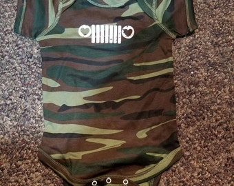 Jeep Camo Infant Onsie
