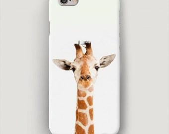 Giraffe iPhone 7 Case, White iPhone 6 Plus Case, iPhone 5s Case, Giraffe Phone Case, Galaxy  S7 Case, Samsung Case, Minimalist Phone Case