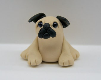 Cute Polymer Clay Pug, Great Gift for any Pug Lover