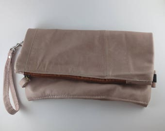Recycled Leather Clutch