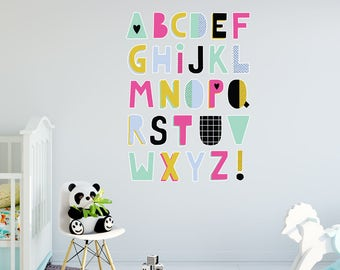 Alphabet Collection Kids Wall Sticker