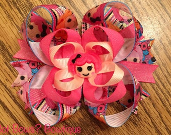 Lalaloopsy Themed Stacked Boutique Bow