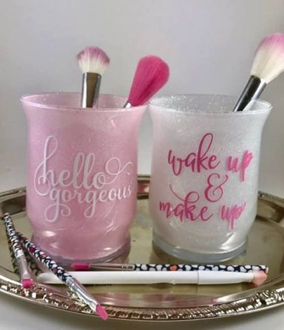 Makeup Brush Holder Glitter Makeup Brush Holder Glitter