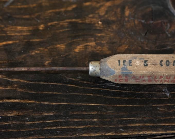 Ice and Coal Icepick Iron Fireman Heating Equipment Miller Rasmussen Co Hemlock