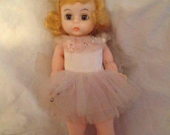 "Madame Alexander Ballerina Doll 7 1/2"" collector Vintage 1950s 1960s Blonde Hair Hard Plastic"