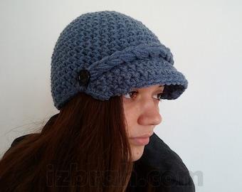 Newsboy hat women, Winter cap, Crochet cap, Brim hat, Womens cap, Crochet hat, Wool hat Women, winter hat, Newsboy cap women, Hat women