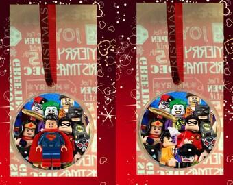 Custom Avengers Christmas Baubles,Marvel,Spiderman,Joker,Comic Heroes,Building Block Mini figures,Captain America,The Thing,Decorations