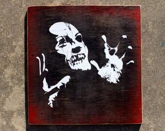 Zombie - Wooden Plank Print
