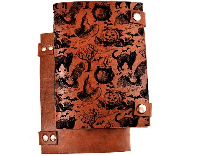 Halloween journal - All Hallows' Eve - All Saints' Eve - Allhalloween notebook - cat - pumpkin - witch - 31 October gift - Halloween gift