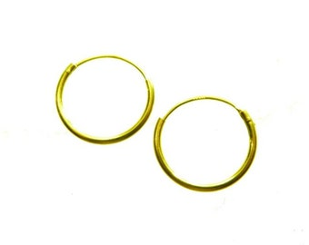 creols gold 333 15mm pair creols earring
