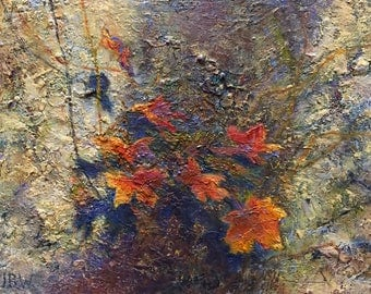 Maple Shade, 9x12 original oil painting by Julie Beth Wileman