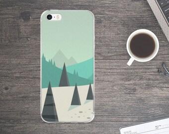 Mountain Phone Case - Mountain iPhone Case - Forest iPhone Case -  Cellphone Case - iPhone Case